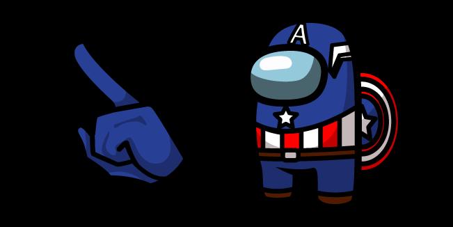 Among Us Captain America Character