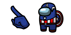 Among Us Captain America Character