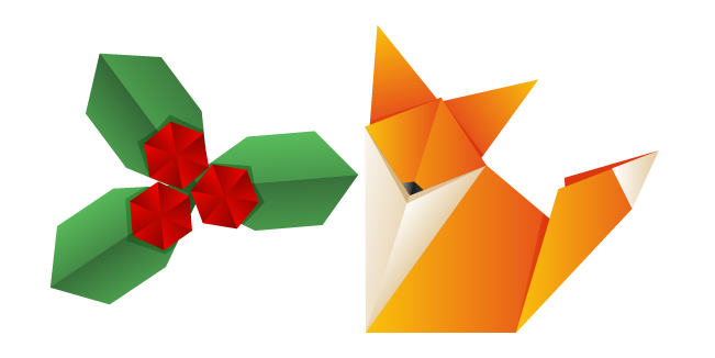 Origami Fox and Berry