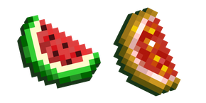 Minecraft Melon Slice and Glistering Slice Cursor