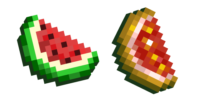 Minecraft Melon Slice and Glistering Slice