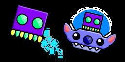 Geometry Dash Cube 78 and UFO 16 Cursor