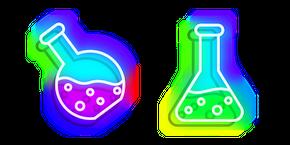 Neon Laboratory Flask Cursor