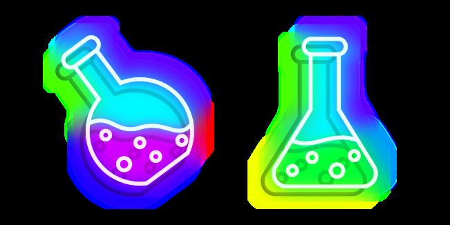 Neon Laboratory Flask