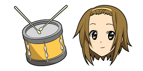 K-ON Ritsu Tainaka and Drum Cursor