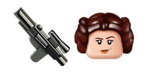 LEGO Princess Leia and Blaster Cursor
