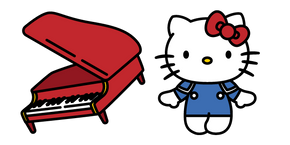 Hello Kitty and Piano Curseur