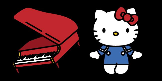Hello Kitty и Пианино