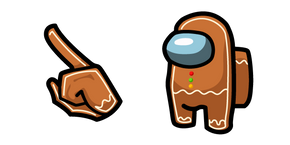 Among Us Gingerbread Character Cursor