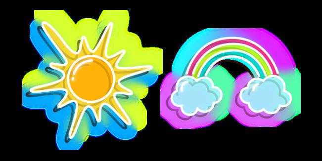 Неоновое Солнце и Радуга