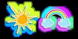 Neon Sun and Rainbow Cursor