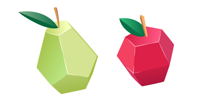 Origami Pear and Apple