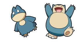Pokemon Munchlax and Snorlax Curseur