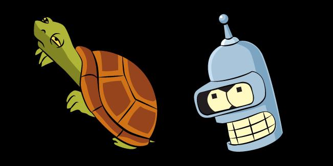 Futurama Bender and Turtle
