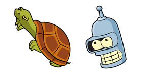 Futurama Bender and Turtle Curseur