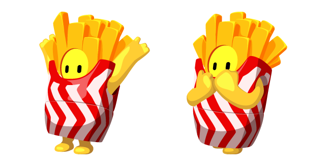 Fall Guys French Fries Costume