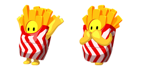 Fall Guys French Fries Costume Cursor