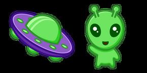 Cute Alien and UFO Curseur