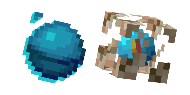 Minecraft Heart of the Sea and Conduit
