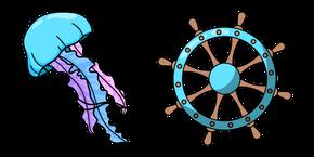 VSCO Girl Jellyfish and Steering Wheel Cursor