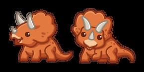 Cute Dino Triceratops Curseur