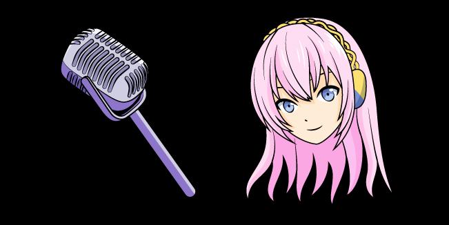 Vocaloid Megurine Luka and Microphone