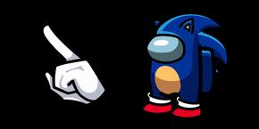 Among Us Sonic Character Cursor