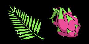 VSCO Girl Palm Leaf and Dragon Fruit Curseur