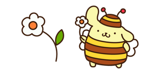 Pompompurin and Flower