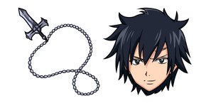 Fairy Tail Gray Fullbuster and Necklace Cursor