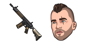 Call of Duty Soap and M4A1 Cursor