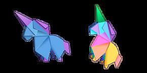 Origami Unicorn Curseur