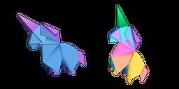 Origami Unicorn Cursor