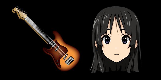 K-ON Mio Akiyama and Guitar