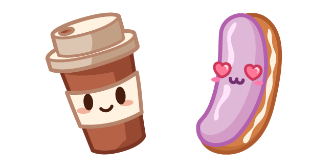 Cute Coffee and Eclair