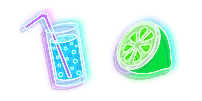Neon Water and Lime
