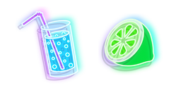 Neon Water and Lime Cursor
