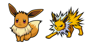 Pokemon Eevee and Jolteon Curseur