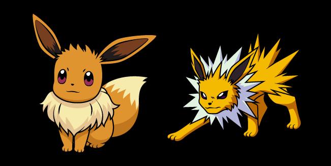 Pokemon Eevee and Jolteon
