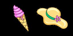 VSCO Girl Ice Cream and Hat Cursor