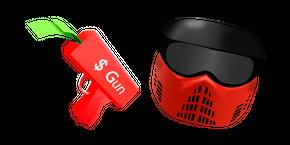Курсор Roblox BIG Paintball Money Gun and Helmet