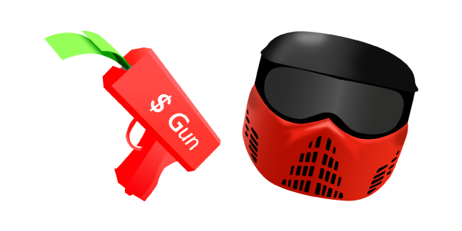 Roblox BIG Paintball Money Gun and Helmet