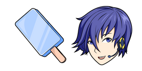 Vocaloid Kaito and Ice Cream Curseur
