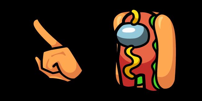 Among Us Hot Dog Character