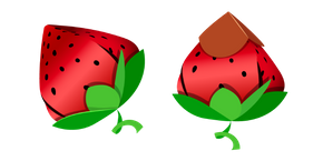 Origami Strawberry Cursor