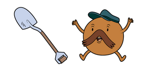 Adventure Time Starchy and Shovel Cursor