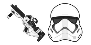 Star Wars Stormtrooper G-11F Blaster Rifle Cursor