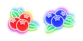 Neon Lingonberry and Blueberry Cursor