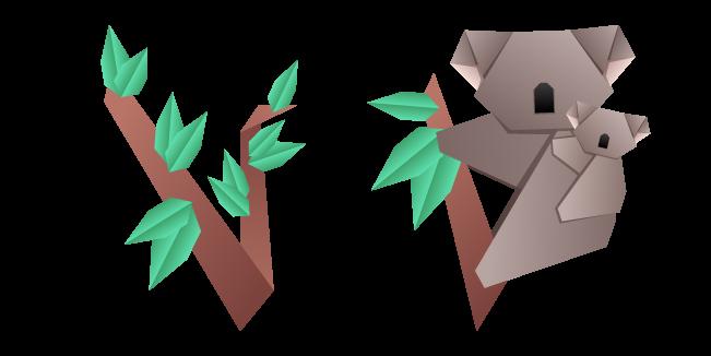Origami Koala and Eucalyptus