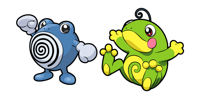 Pokemon Poliwhirl and Politoed